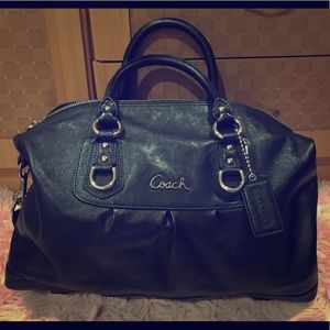 Coach convertible leather satchel tote